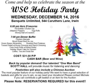 WSC Annual Holiday Party @ Banquets Unlimited | Irwin | Pennsylvania | United States